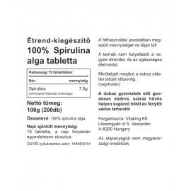 Spirulina Alga Tabletta
