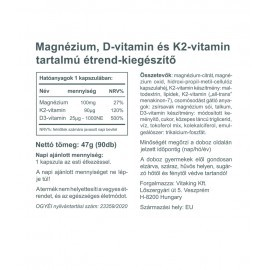 MagneTrio 90db (Mg+D3+K2)